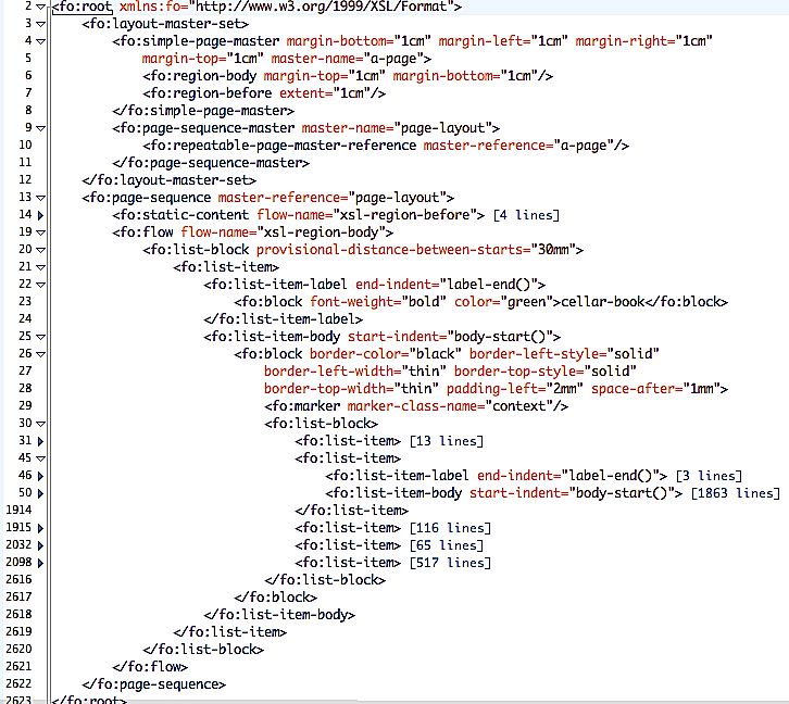 5.4. Transformation into PDF with XSL-FO